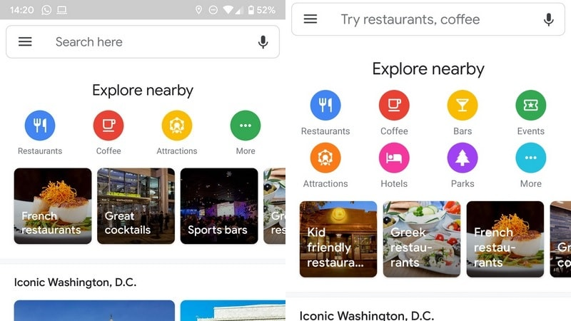 Google Maps Tests New UI to Improve Discovery of Nearby Spots, Next TGP
