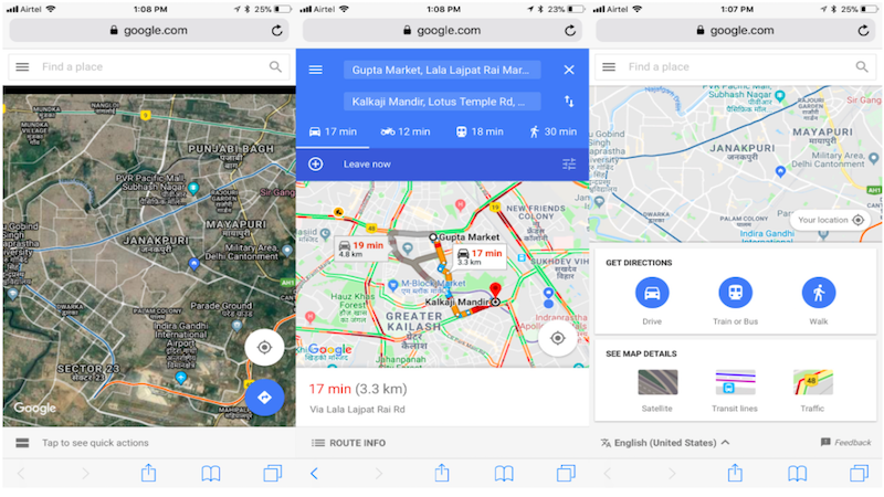 Google Maps Go App Launched on Google Play Store ... on