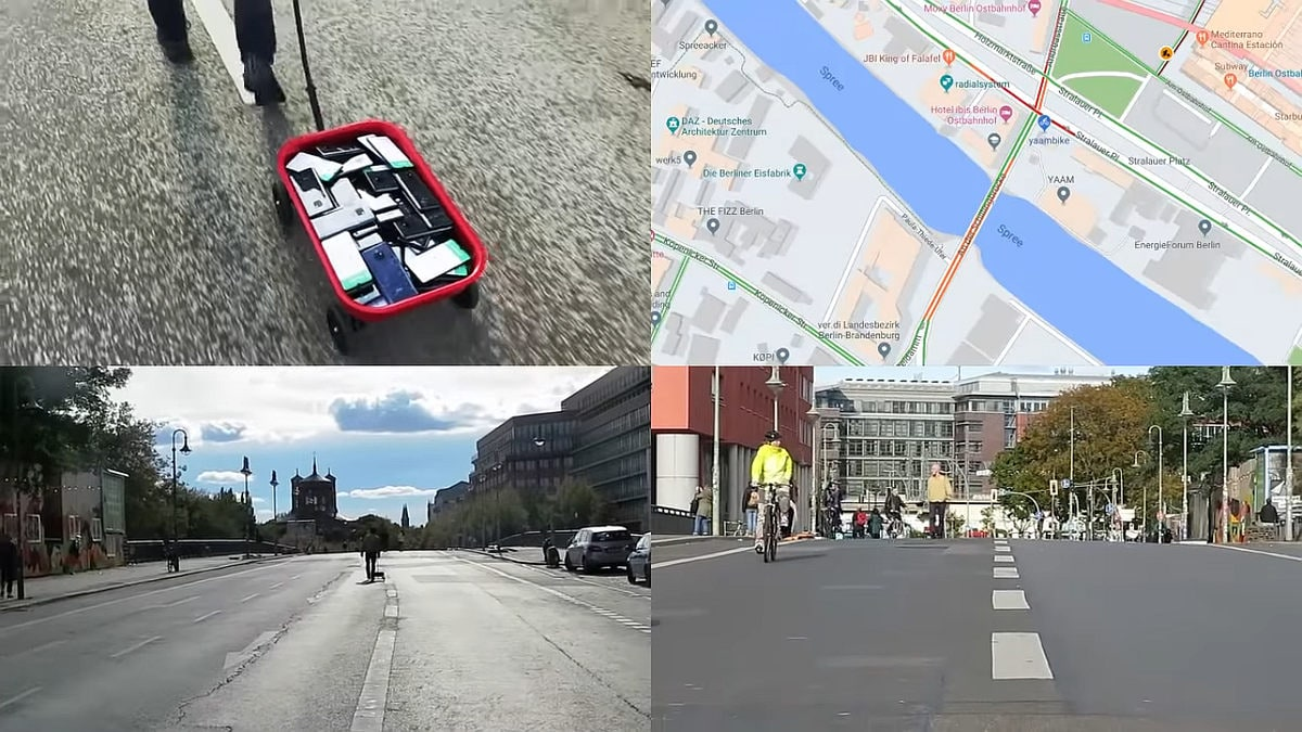Berlin artist uses 99 phones to trick Google into traffic jam alert