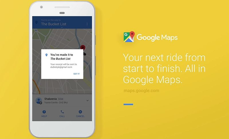 Google Maps-Uber Integration: Book an Uber Cab Directly From