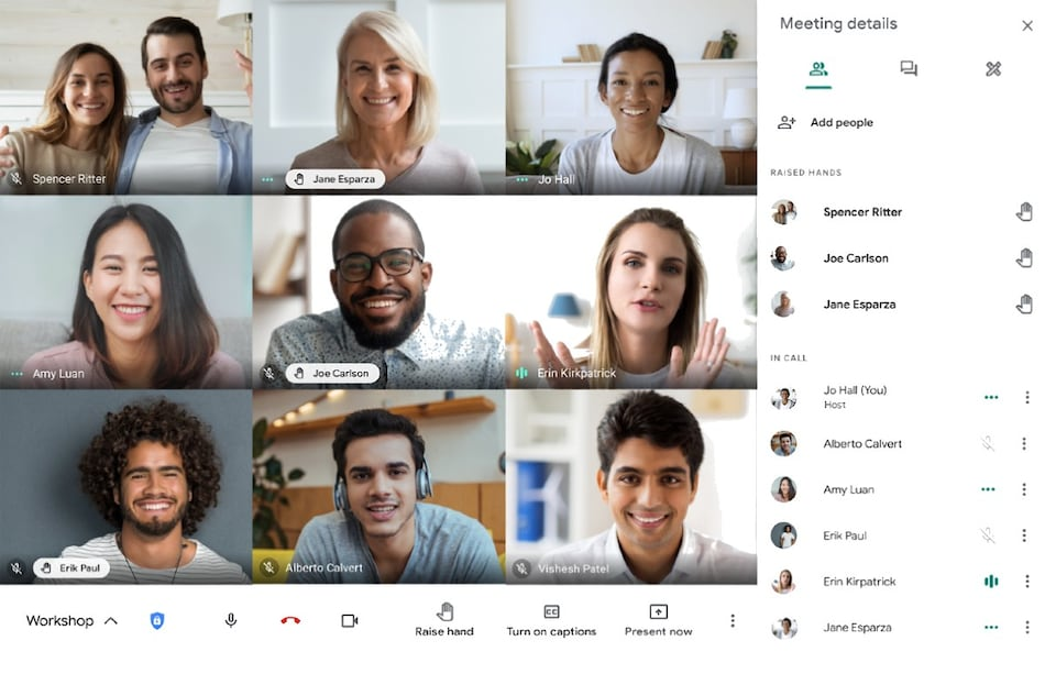 Google Meet Adds Feature to Allow Users to Virtually Raise Hands in Meetings