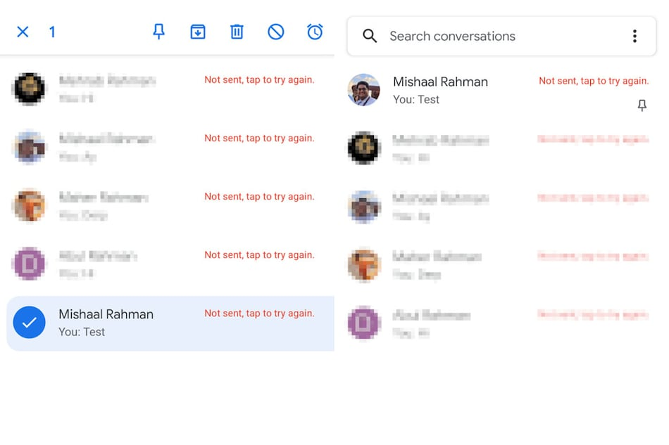 Google Messages Testing Pin Conversations, Star Messages Features: Report