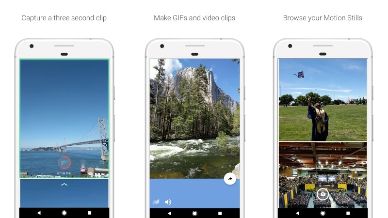 Google Motion Stills App Launched for Android, Lets Users Create and Share Stabilised GIFs