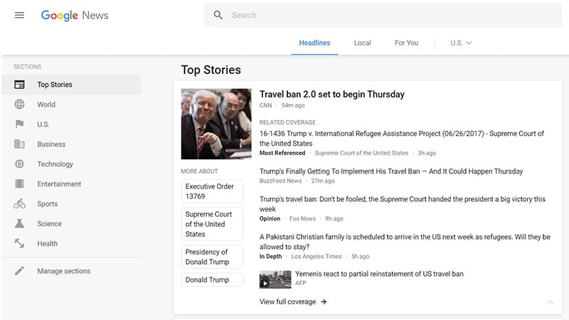 Google News Redesigned, Gets Material Design Cards to Improve Readability and Navigation