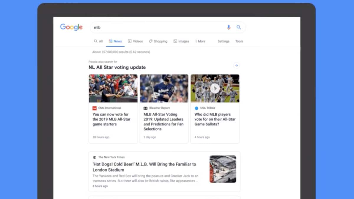 Google to Roll Out New Design for News Tab in Search on Desktop