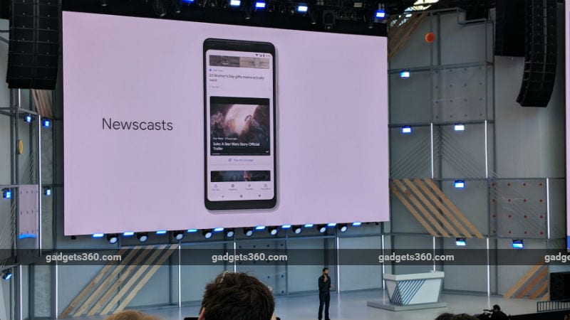 google newscasts gadgets 360 Google News