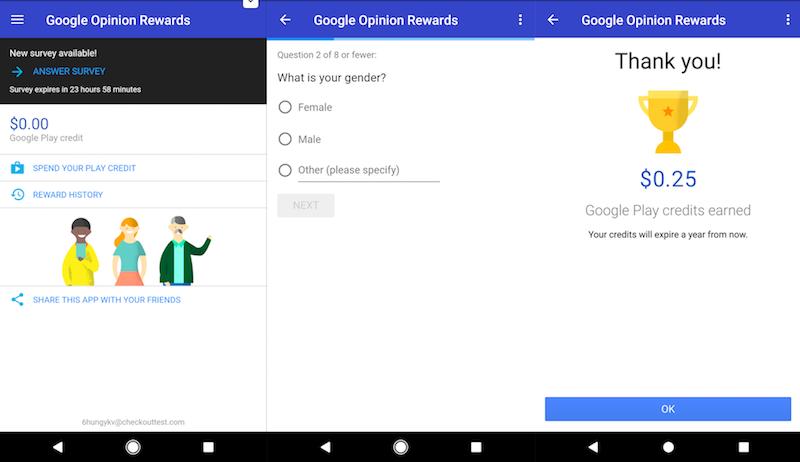 गूगल ओपिनियन रिवॉर्ड्स एंड्रॉयड ऐप अब भारत में उपलब्ध