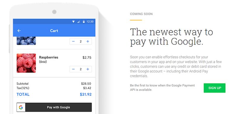 google payment api google