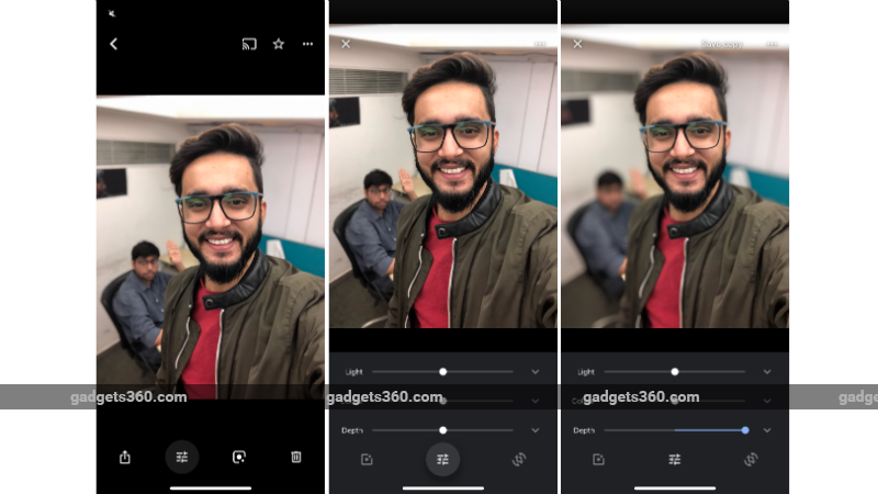 Google Photos for iOS will let you depth edit portrait photos
