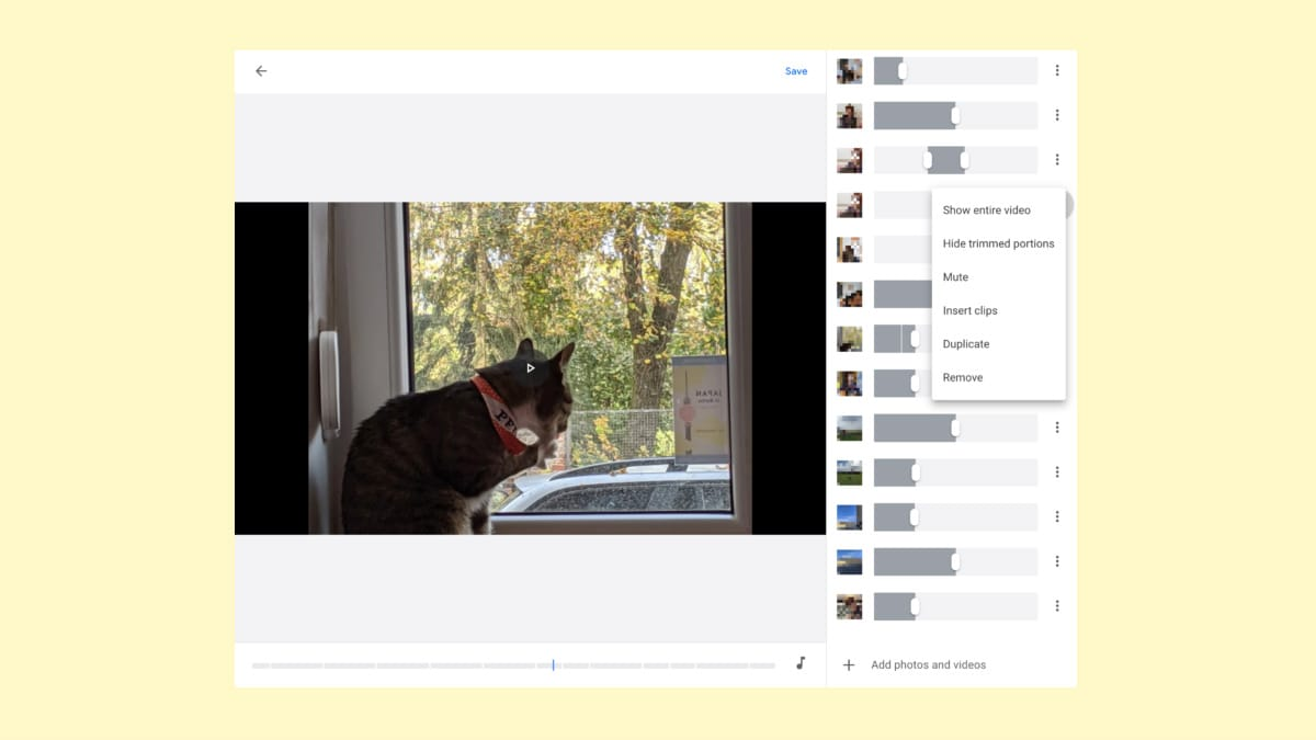 Google Photos for Web Gets a Bare-Bones Movie Editor