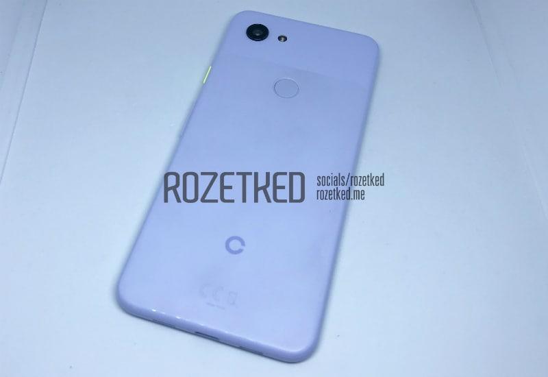 google pixel 3 lite back rozetked Google Pixel 3 Lite