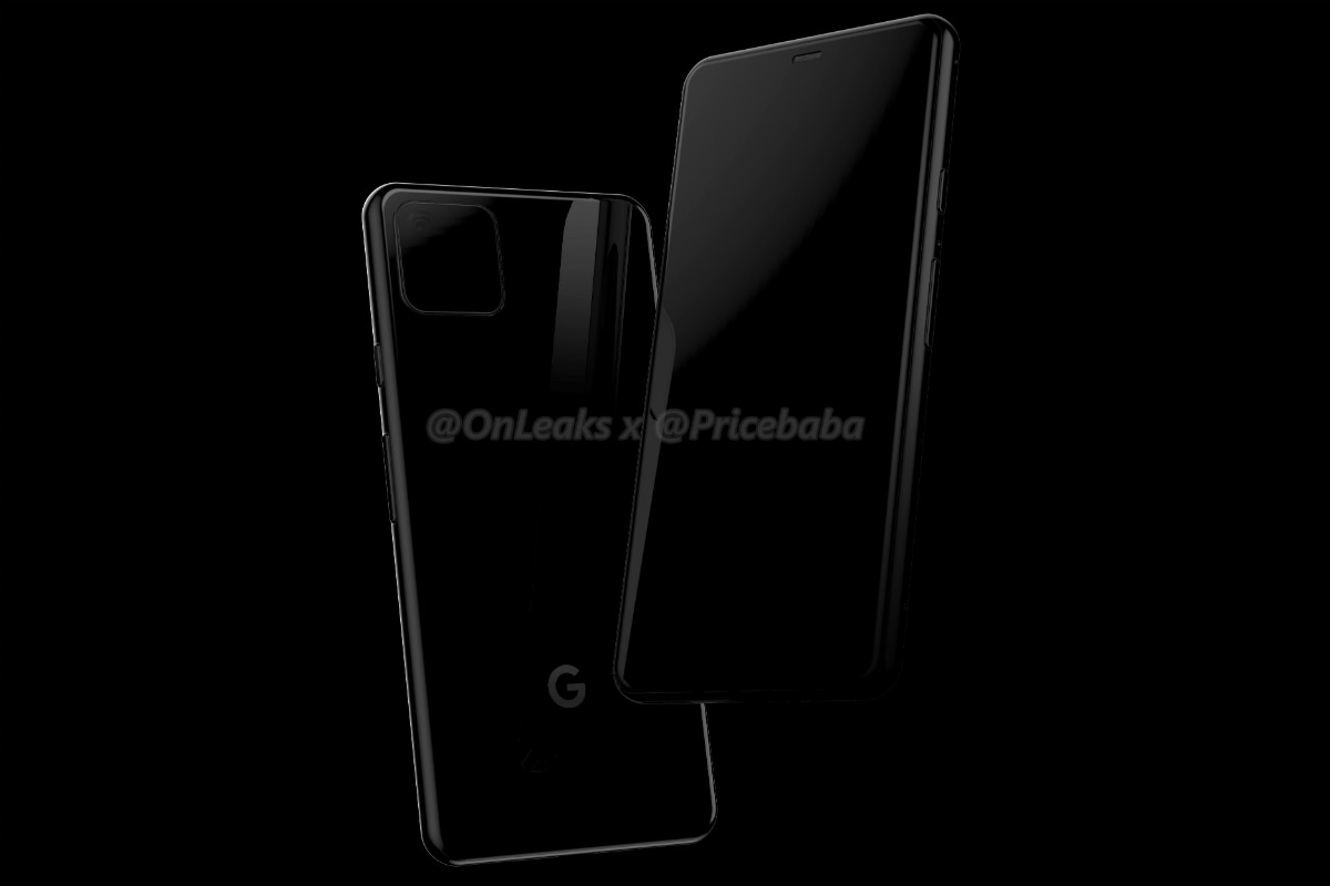 Google Pixel 4 Leak-Based Renders Surface, Suggest a Square Camera Bump, Absence of Traditional Fingerprint Sensor