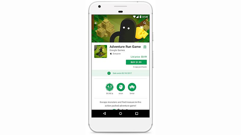 Google Now Lets Apps Show Sale Prices (Including Free Offers) on Play Store
