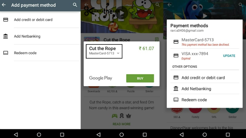 google play payment