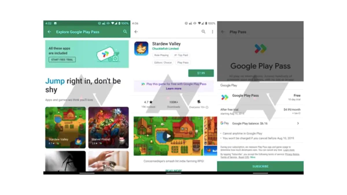 Google Play Pass Subscription Service in Testing With