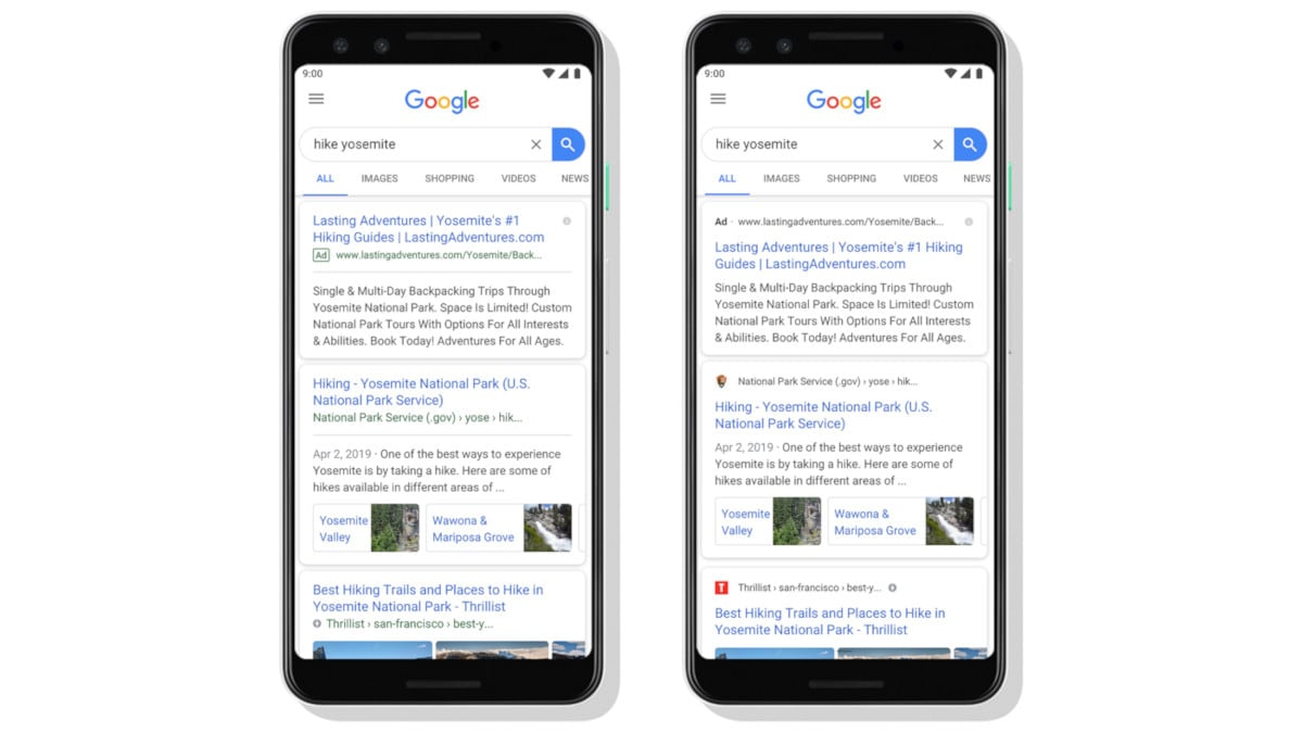 Google Search Gets a New Look on Mobile Devices