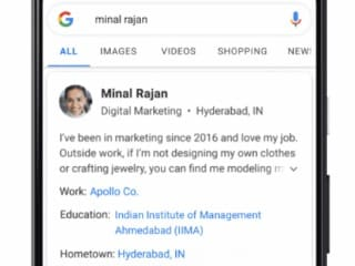 Google Introduces 'People Cards' in India to Let You Build Your Public Profile for Search Engine