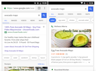 Google's New Mobile Search UI for Recipes Now Features Suggestions