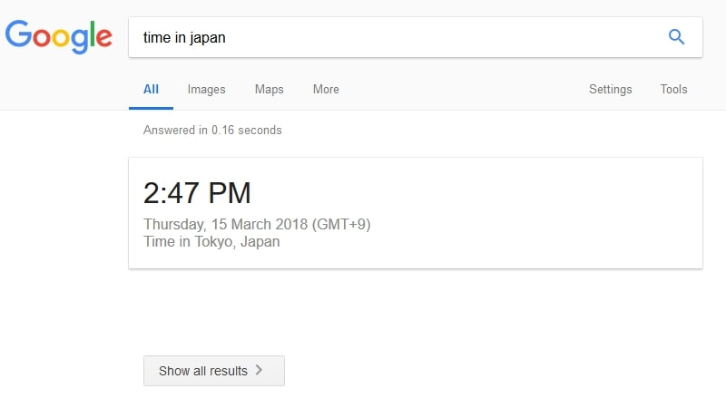 Google Search Now Shows Answers to Certain Queries, Without Search Results