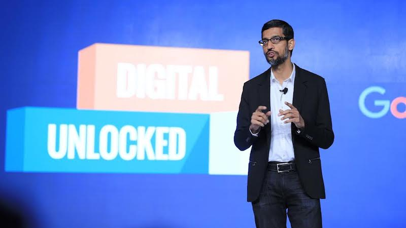 Google CEO Sundar Pichai Unveils Digital Unlocked Training, My Business Websites Service for Indian SMBs