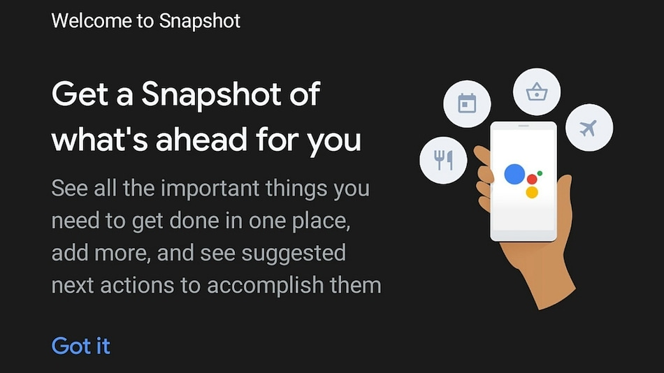 Google Assistant Snapshot Feature Gets Voice Command Support, More Updates