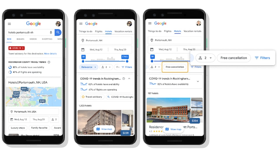 Google Adds COVID-19 Related Travel Planning Features in Search
