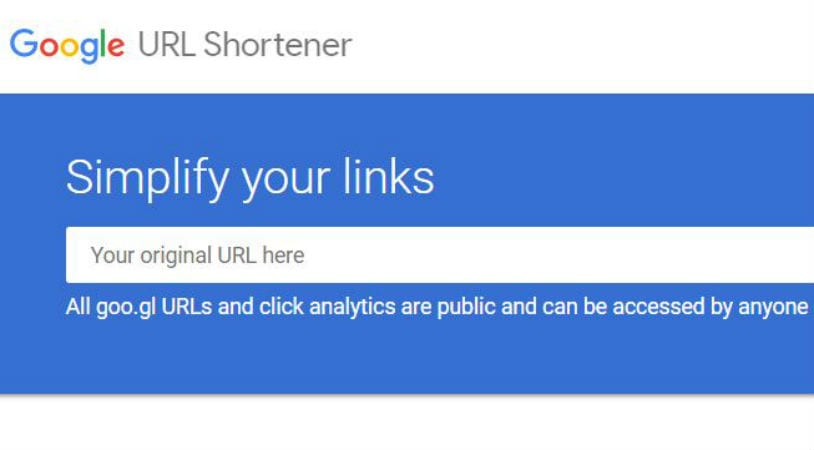 Google URL shortener goo.gl will be shuttered in 2019
