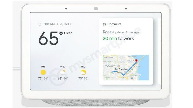 Google Home Hub Smart Speaker With 7-inch Display Screen Leaked, Tipped to Launch at October 9 Pixel Event