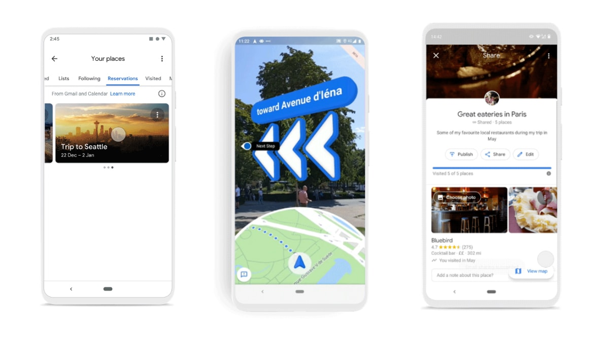 Google Maps Gets New Reservation Tab, Updated Timeline ... on google maps update, google maps screenshot, google maps path,