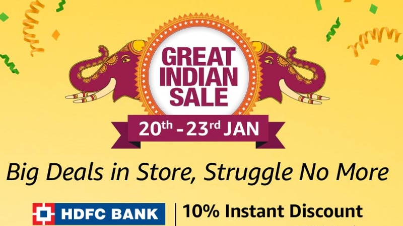 Amazon Great Indian Sale 2019 Starts From January 20, Major Deals Previewed