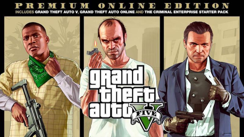 Grand Theft Auto V Premium Online Edition for PS4, Xbox One