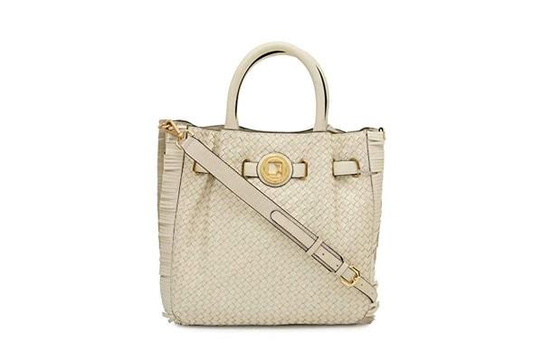 best handbags for women in india Da Milano LB-4342 White Genuine Leather Satchel Bag