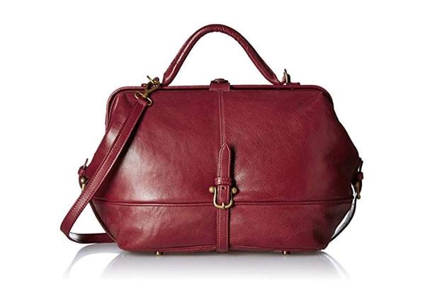 best handbags for women in india Hidesign Women's Satchel (Dark Red)