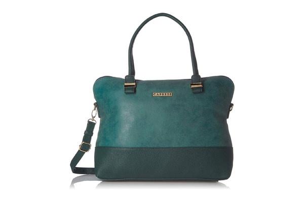 best handbags for women in india Caprese Lisa Women's Satchel (Green)