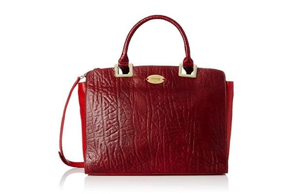 best handbags for women in India hidesign Women's Satchel (Red)