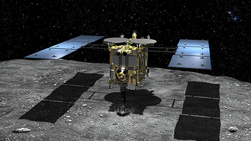 Japan Probe Hayabusa2 Lands on Distant Asteroid Ryugu