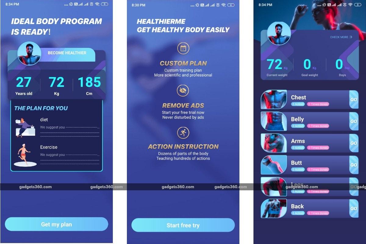 healthierme app screenshots gadgets 360 HealthierMe