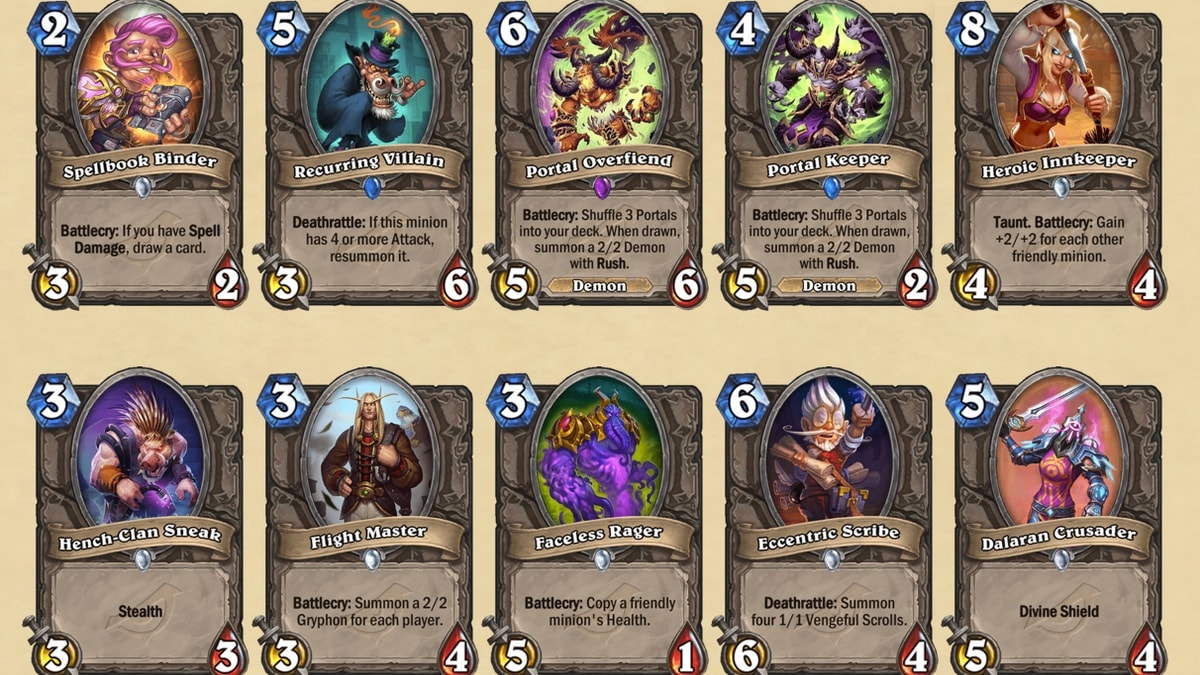 hearthstone rise of shadows cards Hearthstone