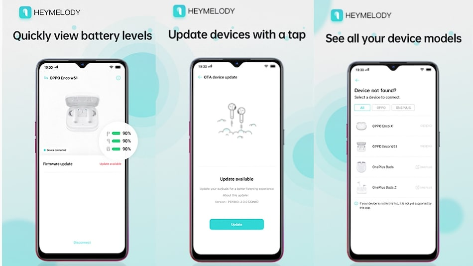 OnePlus' HeyMelody App Lets You Download Updates for Its Earbuds and Oppo's