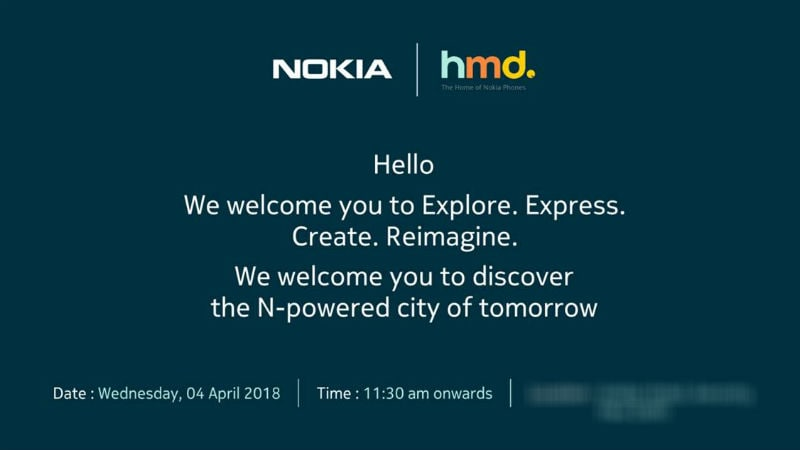 hmd global april 4 invite Nokia 6 2018 invite