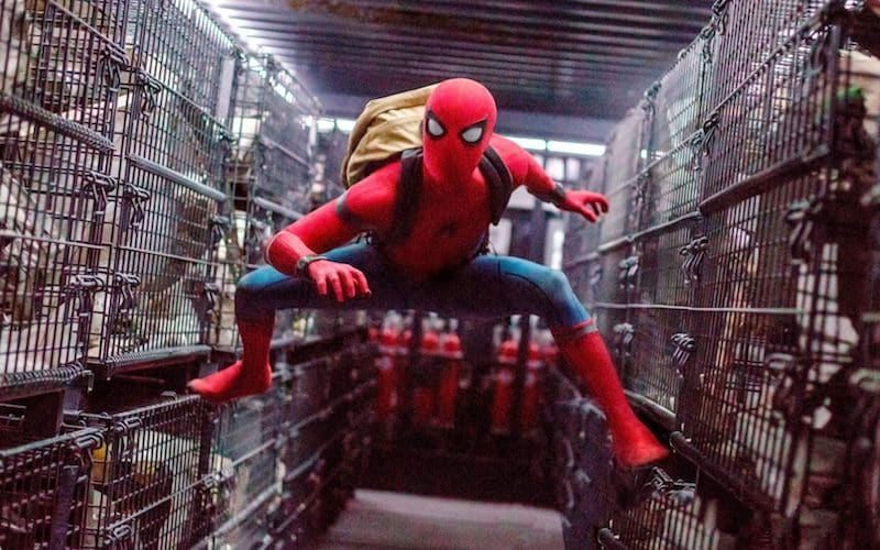 homecoming cages spider man