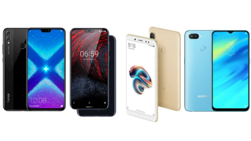 Honor 8X vs Redmi Note 5 Pro vs Realme 2 Pro vs Nokia 6.1 Plus: Price in India, Specifications Compared