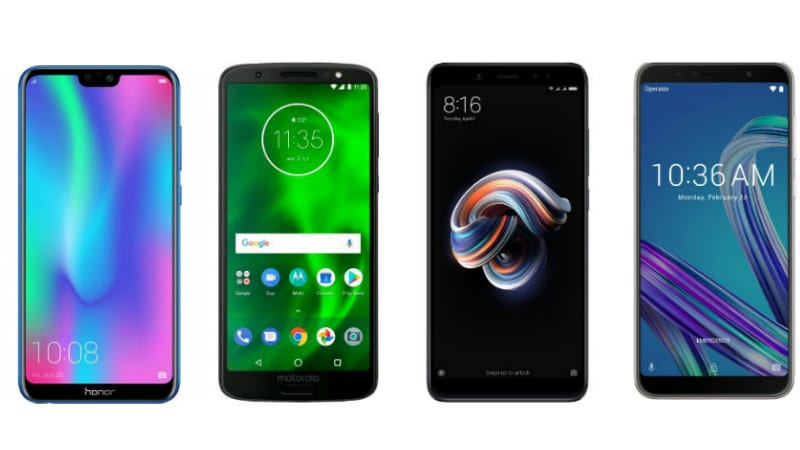 Honor 9N vs Redmi Note 5 Pro vs Asus ZenFone Max Pro M1 vs Moto G6: Price in India, Specifications Compared