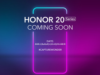 Honor 20 Series Launch Set for May 21 in London