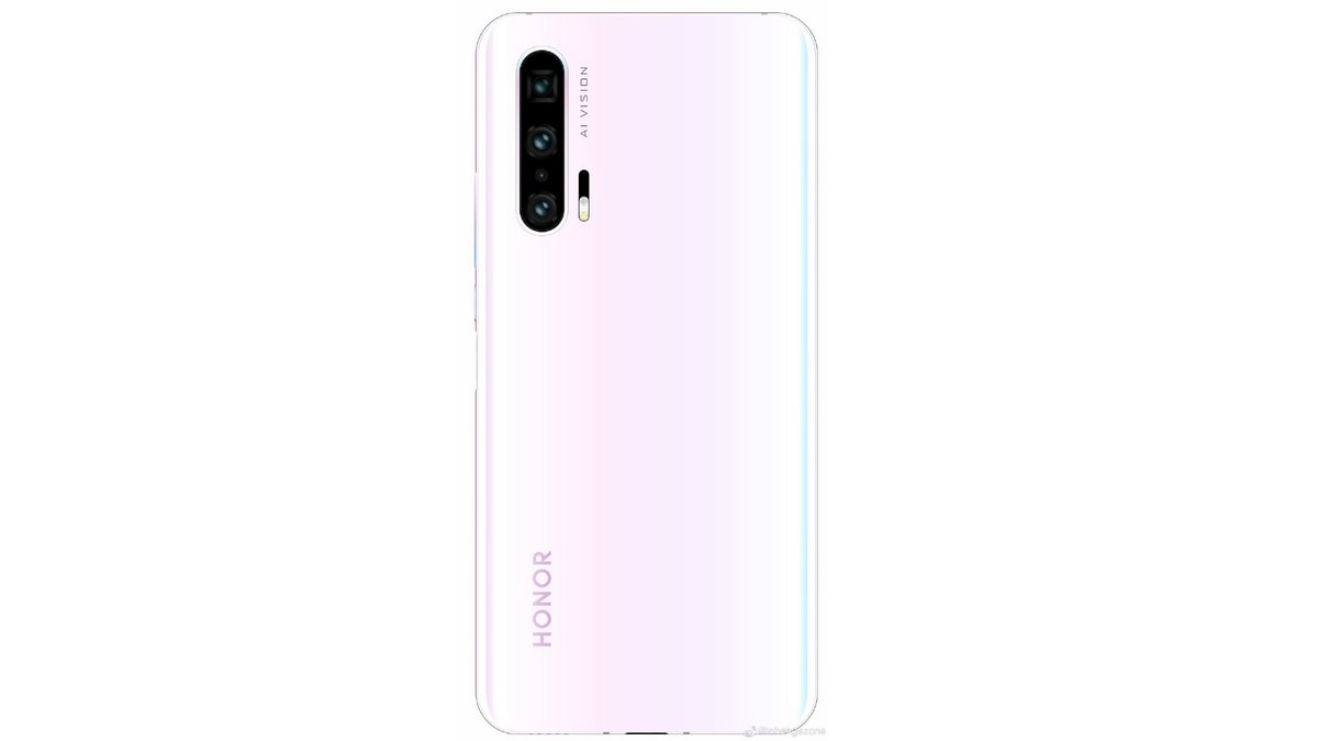 Honor 20 Pro Render Shows White Gradient Design With Quad Rear Cameras; Moschino Edition Confirmed