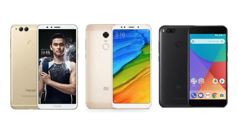 Xiaomi Redmi 5 Plus बनाम Honor 7X बनाम Xiaomi Mi A1