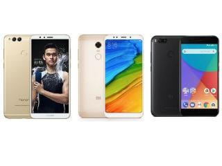 Redmi 5 Plus vs Honor 7X vs Xiaomi Mi A1: Price in India, Specifications Compared