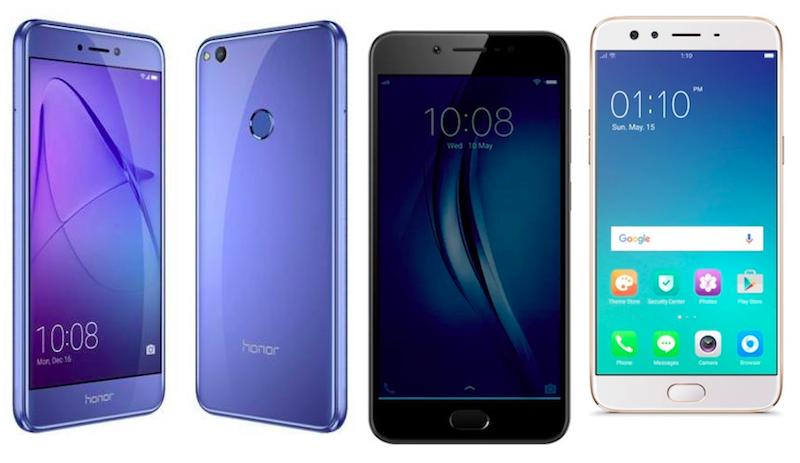 Honor 8 Lite vs Vivo V5s vs Oppo F3: Price and Specifications Compared