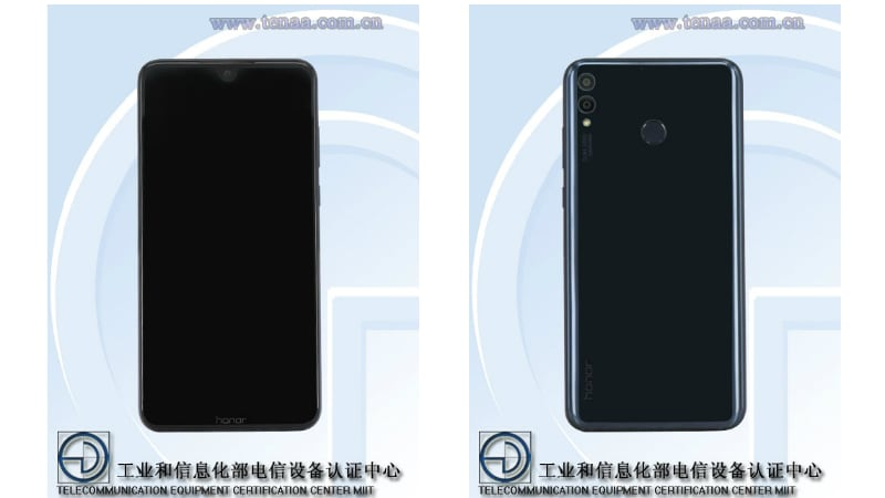 Honor 8X With 'Waterdrop' Notch, 4,900mAh Battery Spotted on TENAA