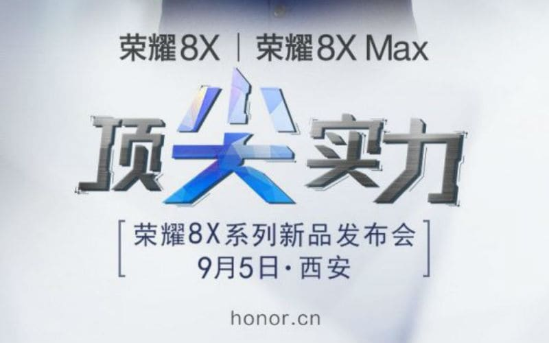 Honor 8X, Honor 8X Max Launch Set for September 5, Company